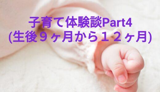 【子育てブロガーが教える】子育て体験談Part4(生後9カ月から12カ月)
